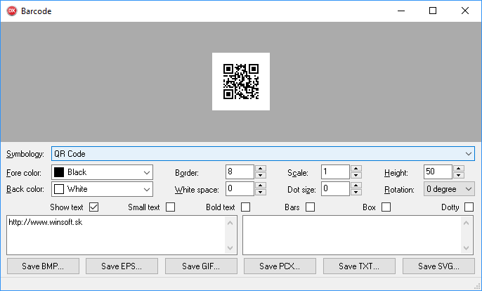 Barcode example